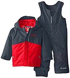 Columbia Baby Buga Snow Set, Graphite/Bright Red, 18-24 Months