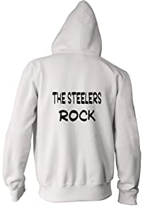 The Steelers Rock Youth Zippered Hooded (Hoody) Sweatshirt Fleece Jacket in Various Colors