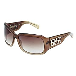 Guess Rectangular Brown Gradient Women Sunglasses with UV Protection (GU6476STBRN-34