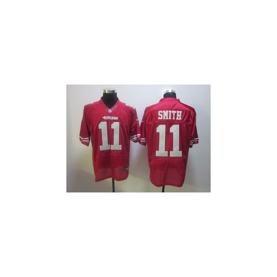 Smith #11 NFL San Francisco 49ers Red Football Jersey Sz48