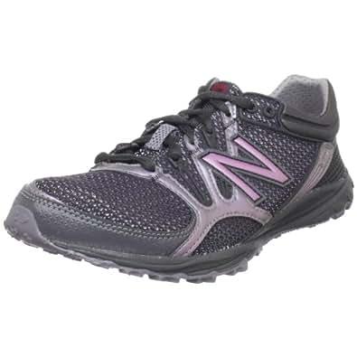 New Balance Women's WT101 Trail Running Shoe,Black/Purple,5.5 B US
