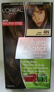 L'Oreal Natural Match Hair Color, 4N Dark Brown