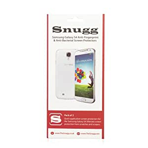 Snugg Galaxy S4 Anti Fingerprint and Anti Bacterial Screen Protectors (pack of 2) - Includes Microfiber Cloth and Anti Bubble Leveller