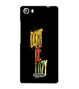 MICROMAX CANVAS 5 DON'T BE LAZY Back Cover by PRINTSWAG