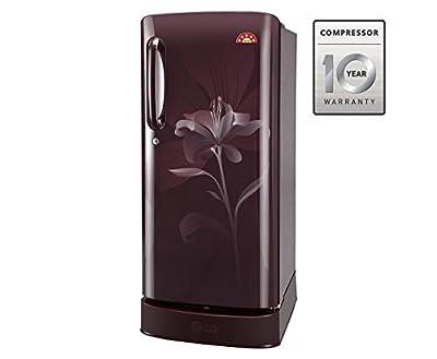 LG GL-D241ASLN.DSLZEBN Direct-cool Single-door Refrigerator (235 Ltrs, 5 Star Rating, Scarlet Lily)