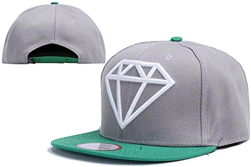 Cameinic Hip Pop Flat Bill Diamond Embroidery Brim Snapback Baseball Hats Caps (Cool Snapbacks compare prices)