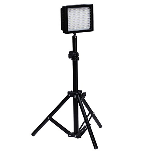 "Bestlight® Fotografia Kit 216 LED Studio di Illuminazione, Include(1) W216 Dimmerabili Ultra Videocamera DSLR Panello di Alta Potenza Digitale Video Luce LED (1) 32 ""/ 80 Cm Fotografia Mini Supporto Luce"