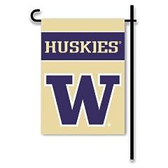 Buy NCAA Washington Huskies 2-Sided Garden Flag by BSI