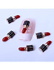 Sexy Red Kiss Lips lipstick Nail Art Designed 3d Nail Decorations Nail
