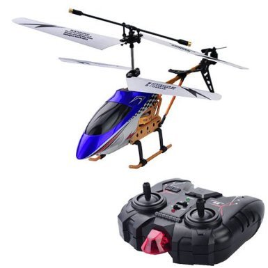 Dm144B 2.5-Channel R/C Helicopter Child Toy With Led Light-Blue