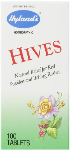 Hyland's Hives Relief Tablets, Natural Rash Relief, 100 Count