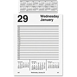 AT-A-GLANCE E45850 Pad Style Desk Calendar Refill, 5 x 8, 2016 by At-A-Glance