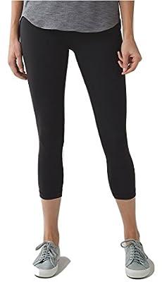 Lululemon Wunder Under Crop III Full On Luon Yoga Pants Black
