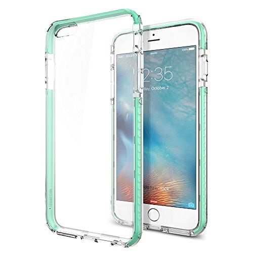 Spigen iPhone6s Plus ケース / iPhone6 Plus ケース, ウルトラ・ハイブリッド テック [ 背面 クリア ] アイフォン6s プラス 用 米軍MIL規格取得 耐衝撃カバー (クリスタル・ミント SGP11650)