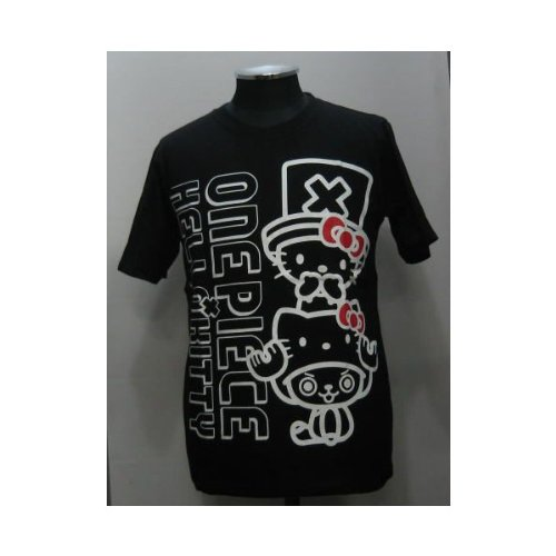 One piece x Hello Kitty collaboration with short-sleeved shirts 122511 black (M)