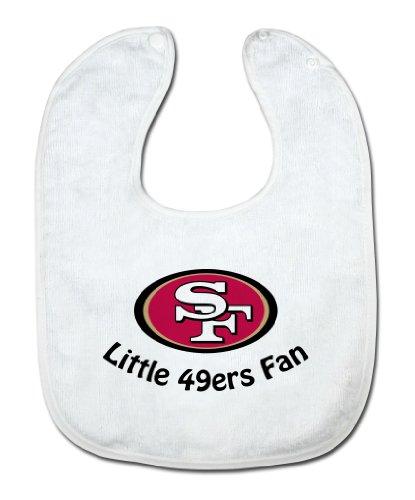 NFL San Francisco 49ers White Snap Bib with Team Logo