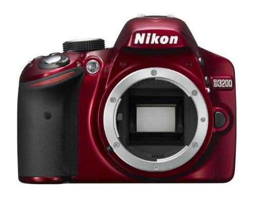 Nikon D3200 Digital SLR Camera Body Only - Red (24.2MP) 3 inch LCD