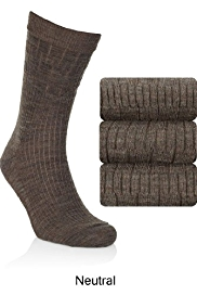 3 Pairs of Non Elastic Wool Rich Socks with Silver Technology