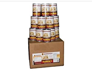 Canned Turkey - 1 Case 12 28oz Cans Emergency Long Term Food Storage By Survival Cave by Survival Cave
