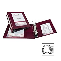 View Binder, Hvy Duty, D-Ring, 3 In, Maroon