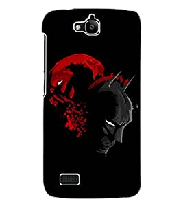 ColourCraft Mask Design Back Case Cover for HUAWEI HONOR HOLLY