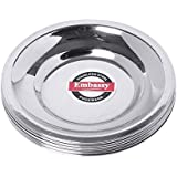 Embassy Stainless Steel Glass Lid/Cover, Pack Of 12, Size 4 (Diameter 9.1 Cms)