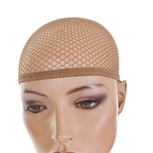 Fish Net Wig Cap in Brown | Pack of 3