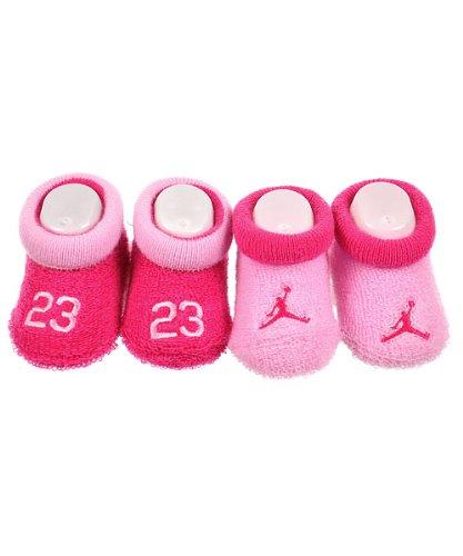 Jordan 0-6 Months Jumpman 2 Pack Booties (0-6 Months, Pink)