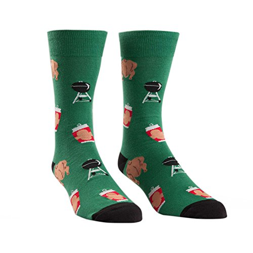 Sock It To Me Beer Can Chicken Mens Crew Socks