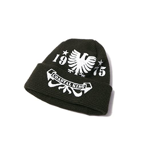 (カスターノ) CASTANO 大きいサイズ メンズ プリント ワッフルワッチ ニットキャップ ニット帽 サカゼン カーキ / 63-65cm