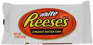Reese's Peanut Butter Cups, White Chocolate, 1.5-Ounce Packages (Pack of 48)