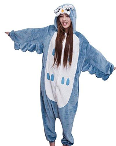 Pulle-A Adult Warm and Cozy Plush Owl Onesie Kigurumi Onesie Pajamas M (Character Adult Onesie)