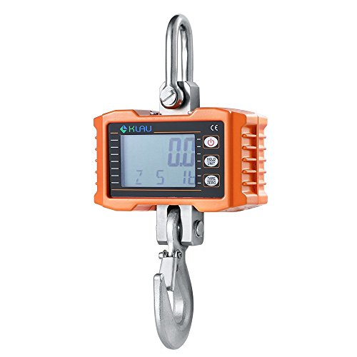 Klau 500 kg 1000 lb Aluminum Case Digital Crane Scale Heavy Duty Industrial Hanging Scales