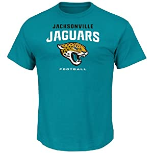 NFL Jacksonville Jaguars Mens All Time Great V Short Sleeve Tee, Active Blue by VF