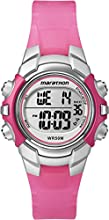 Timex Ironman Women's Digital Watch with LCD Dial Digital Display and Pink Resin Strap - T5K808