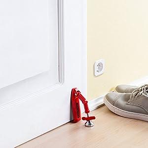 Doorjammer portable door security device by for Home door security devices