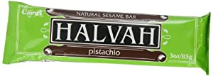 Camel Halvah Bar, Pistachio, 3-Ounce Bars (Pack of 20)