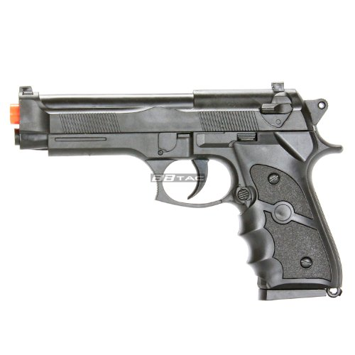 BBTac M757 Black Airsoft 150 FPS Spring Pistol with Molded E