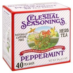 Celestial Seasonings Herbal Tea Caffeine Free Peppermint - 40 Tea Bags