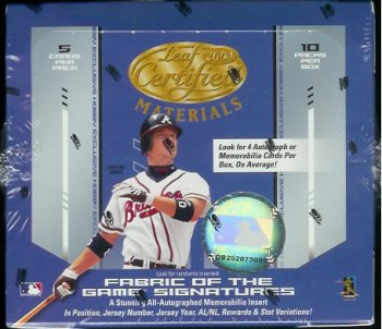 2004 Leaf Certified Baseball Cards Hobby Box