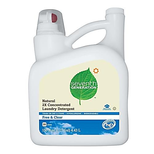Seventh Generation Liquid Laundry 2X Ultra Concentrate - Free And Clear, 150-Ounce front-30553