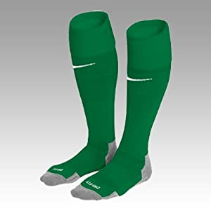 ONE PAIR NIKE 'GAME DAY' BOYS FOOTBALL GREEN SOCKS SIZE 12.2