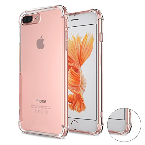 iPhone 7 Plus Case, Matone Apple iPhone 7 Plus Crystal Clear Shock Absorption Technology Bumper Soft TPU Cover Case for iPhone 7 Plus 5.5 Inch (2016) - Clear