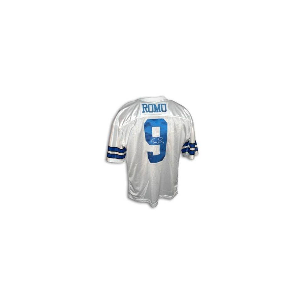 7334c9700c2 Tony Romo Signed Dallas Cowboys White Jersey on PopScreen