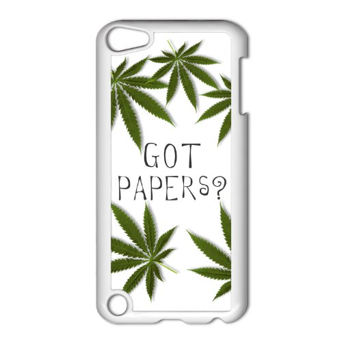 Got Papers? Marijuana Pot Leaf Apple iPod Touch 5th Gen White Hard Case