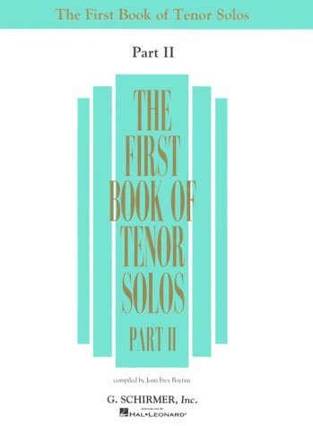 Image for The First Book of Tenor Solos - Part II