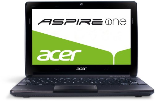 Acer Aspire One D270 25,7 cm (10,1 Zoll, matt) Netbook (Intel Atom N2600, 1,6GHz, 1GB RAM, 320GB HDD, Intel GMA 3600, Linux) schwarz