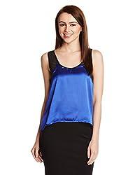PrettySecrets Women's Body Blouse Shirt  (PSW14BLS26_Blue_S)