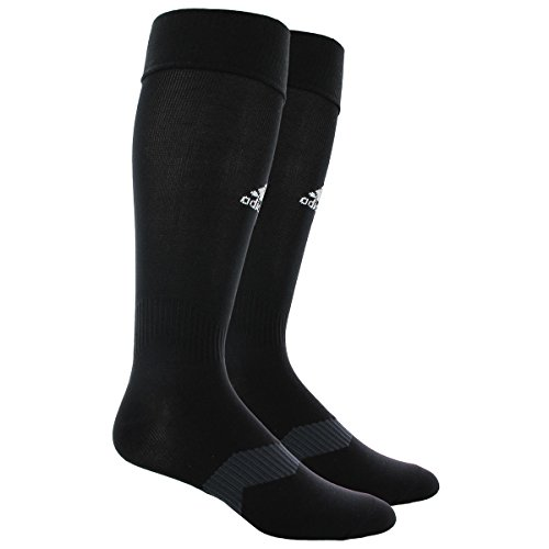 adidas Metro IV Soccer Socks, Black/White/Night Grey ... Black Soccer Socks