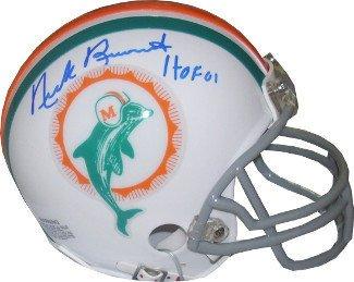 Nick Buoniconti Autographed Miami Dolphins TB Replica Mini Helmet HOF 01- Authentic Signed NFL Helmets